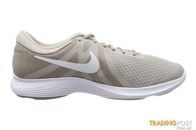 Nike Mens Revolution 4 Running Shoe White Stone Size 8 US