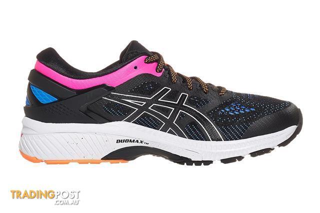 ASICS-Womens-Gel-Kayano-26-Running-Shoe-Black-Blue-Coast ...