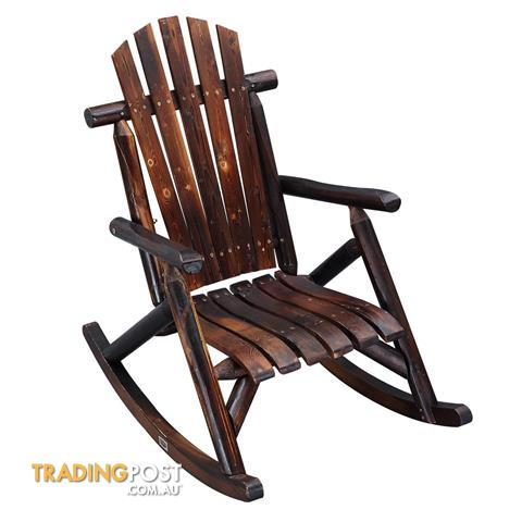Wooden Rocking Chair Outdoor Seating, Rocking Patio Furniture