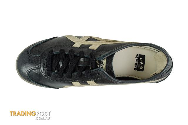 new products 7396d b2fb2 Onitsuka-Tiger-Mexico-66-Shoe-Black-Feather-Grey-Size-6-5