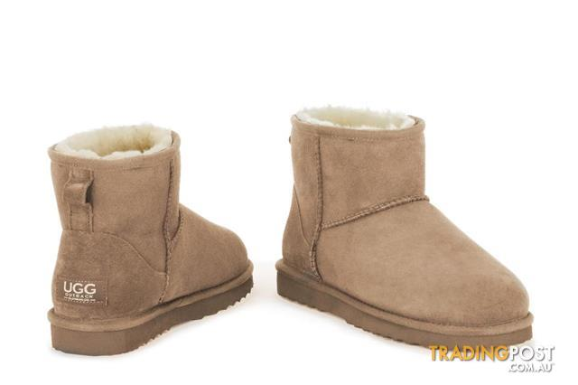 Outback Ugg Slippers Premium Sheepskin (Pink, Size 6M 7W US)