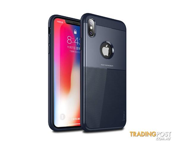 Compatible-for-iPhone-XS-Max-6-5inch-Protection-Armor-Soft-TPU-Silicone-PC-Cover-Case-BLUE-iphonexr