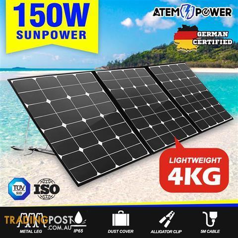 ATEM-POWER-12V-150W-Folding-Solar-Panel-Blanket-Solar-Mat
