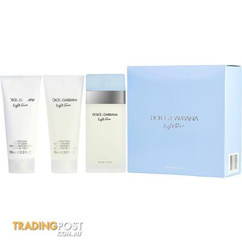 32bd4b372a59 Dolce & Gabbana D & G Light Blue Eau De Toilette Spray & Body Cream &  Shower Gel (travel Offer) 100ml/3.3oz