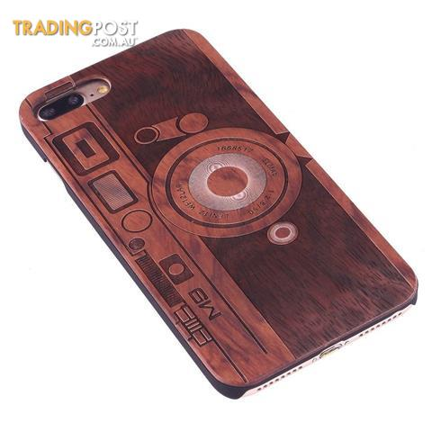 size 40 7df0d 1f8a9 For-iPhone-8-PLUS-7-PLUS-Case-Rosewood-M9-Camera-Wooden-Durable ...