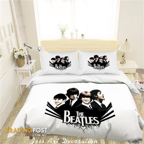 3d Rock The Beatles Quilt Cover Set Bedding Set Pillowcases 07 Queen