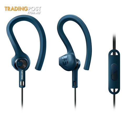Philips-SHQ1405BL-ActionFit-Sport-Ear-Hook-Headphones-Sweat-Proof-Mic-Headset