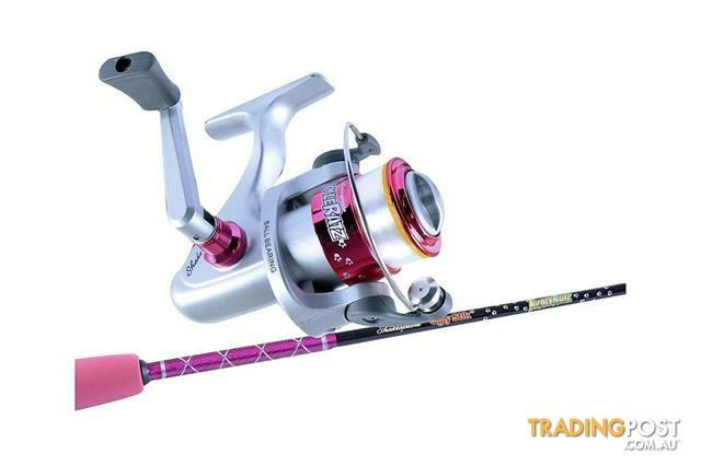 Ugly Stik 39 Tackle Ratz Pink Kids Rod Reel Combo 1 Pce Spooled With Line