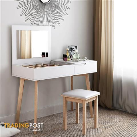 Phenomenal Modern Dresser Table Chair Set Folding Mirror Dressing Makeup Desk White Bedroom Gmtry Best Dining Table And Chair Ideas Images Gmtryco