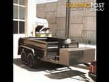 Tandem Box Trailer with Winch Lift Tipper, Dual Axle (Item 333)