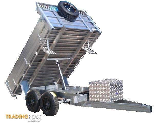 Hydraulic Lift Trailers Sales : Hydraulic lift tipper with dual axle item for sale