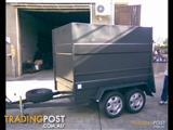 Luggage Trailer Enclosed Dual Axle (Item 95)