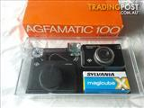 Agfamatic 100 Sensor Camera and accessories