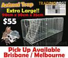 Large HUMANE LIVE ANIMAL TRAP POSSUM RATS CAT RABBIT HARE CATCHER