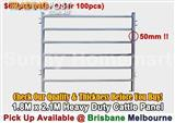 NEW Heavy Duty Cattle Horse Yard Panel 50*50mm Frame 6 Oval Bars