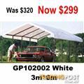 3*6m Gazebo Marquee Car Canopy Wedding Shade Market Tent