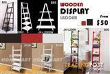 Wooden Display Ladder Book Shelf Wall Rack Home Furniture