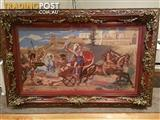 Custom Framed - Triumph of Achilles in Corfu Achilleion Tapestry