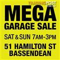 MASSIVE GARAGE SALE - BASSENDEAN SAT & SUN 10-11 December 7am-3pm