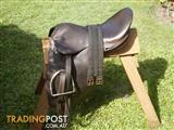 Australian leather saddle