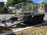 8 x 5 CAGED TRAILER **NEAR NEW**