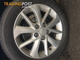 "Genuine Toyota alloys 16"" wheel with tyre included"