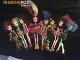 Collection of ten monster high dolls and two figurines