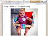 Baby/ Toddler Canvas Swing