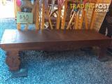 Carved Coffee Table 201 cm long