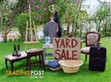 Yard Sale - 9am - Sun 7th Feb - Brunswick