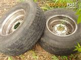 Used Radial 31 10.50 R15LT tyres and rims-two available