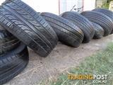 Assorted car tyres rims & wheels 13, 14, 15 & 18 inch