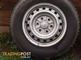 4 used light  truck tyres and rims