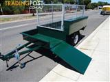 LAWNMOWER TRAILER WITH CAGE AND BOX $2950