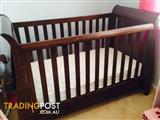 Boori Cot, mattress and Change Table