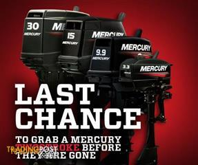 BRAND NEW MERCURY PORTABLE LIGHTWEIGHT 2 STROKE OUTBOARD MOTORS - Heavily  reduced whils stocks last - limited numbers!