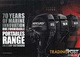 New Mercury outboards - some below cost!