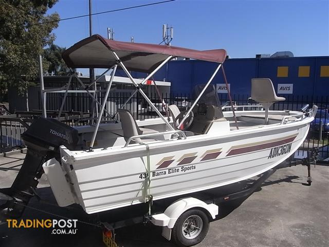 Used Stacer 435 Barra Elite Sports Fitted With Tohatsu