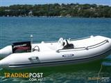 Aer Marine 320 Evolution Luxury RIB with side console and Mercury 30hp electric start outboard