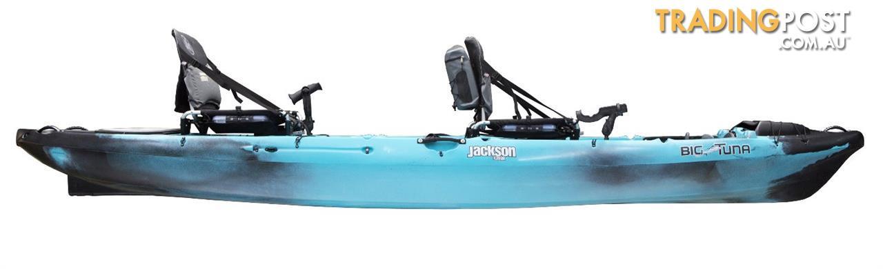 Brand new jackson kayaks big tuna tandem fishing kayak for Fishing kayak brands
