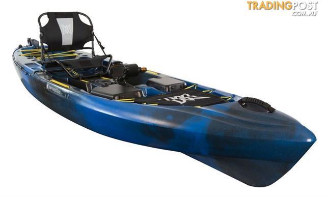 Brand new perception pescador pilot 12 0 pedal drive for Pedal drive fishing kayak