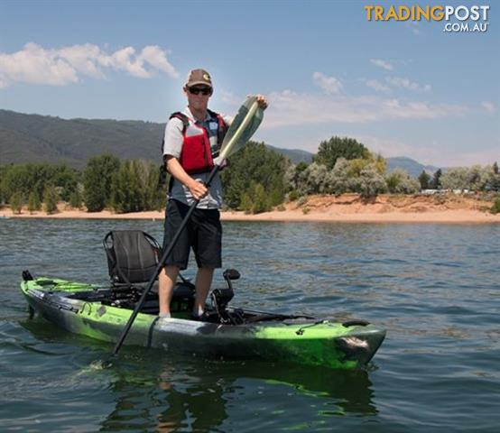 Brand new wilderness systems radar 115 pedal powered for Pedal drive fishing kayak