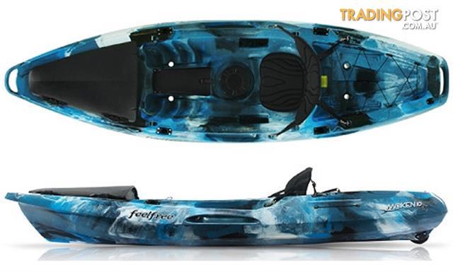 Brand new feel free moken 10 angler sit on top fishing for Fishing kayak brands
