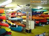 Canoes and kayaks - the Biggest range on display in Australia - 10 brands and over 80 different models!!!
