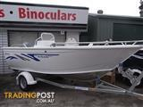 Brand new Horizon 445 Northener Deluxe side console aluminium boat on Sales trailer with rego - $12700!