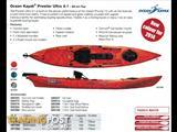 Ocean Kayak Prowler Ultra 4.1 sit on top fishing/touring kayak with rudder