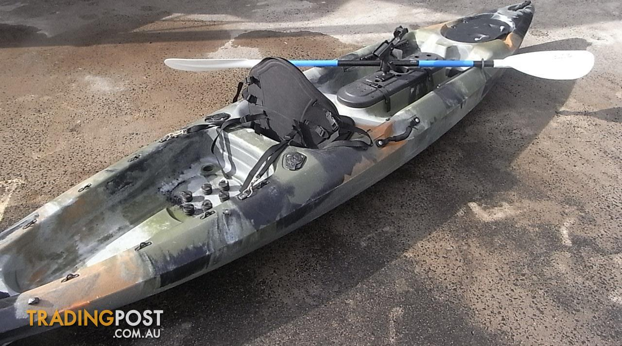 Used pro angler sit on top fishing kayak with for Used fishing kayaks for sale