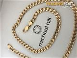 Solid10kt gold 60grams 55cm curb chain necklace