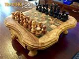 Hand-crafted Olive Wood Chess Set