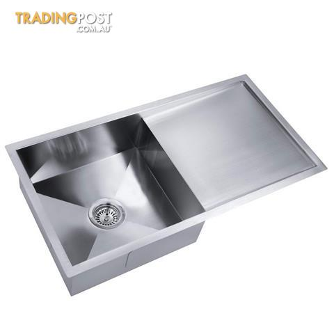 Stainless Steel Kitchen/Laundry Sink w/ Strainer Waste 960x450mm for ...